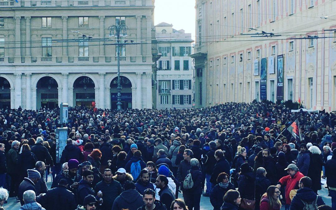 Sabato e Domenica a Genova e Sestri Levante migliaia di cittadini in difesa della democrazia e della Costituzione