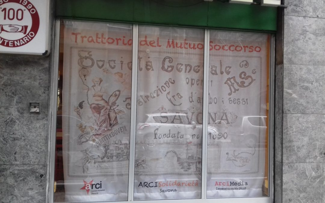 Giovedì 18 ottobre alle ore 12.15  a Savona si inaugura la Trattoria del Mutuo Soccorso. Un primo progetto concreto dell'Arci contro la povertà.