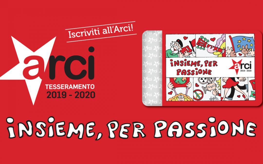 Insieme per passione! Campagna di tesseramento 2019-2020.