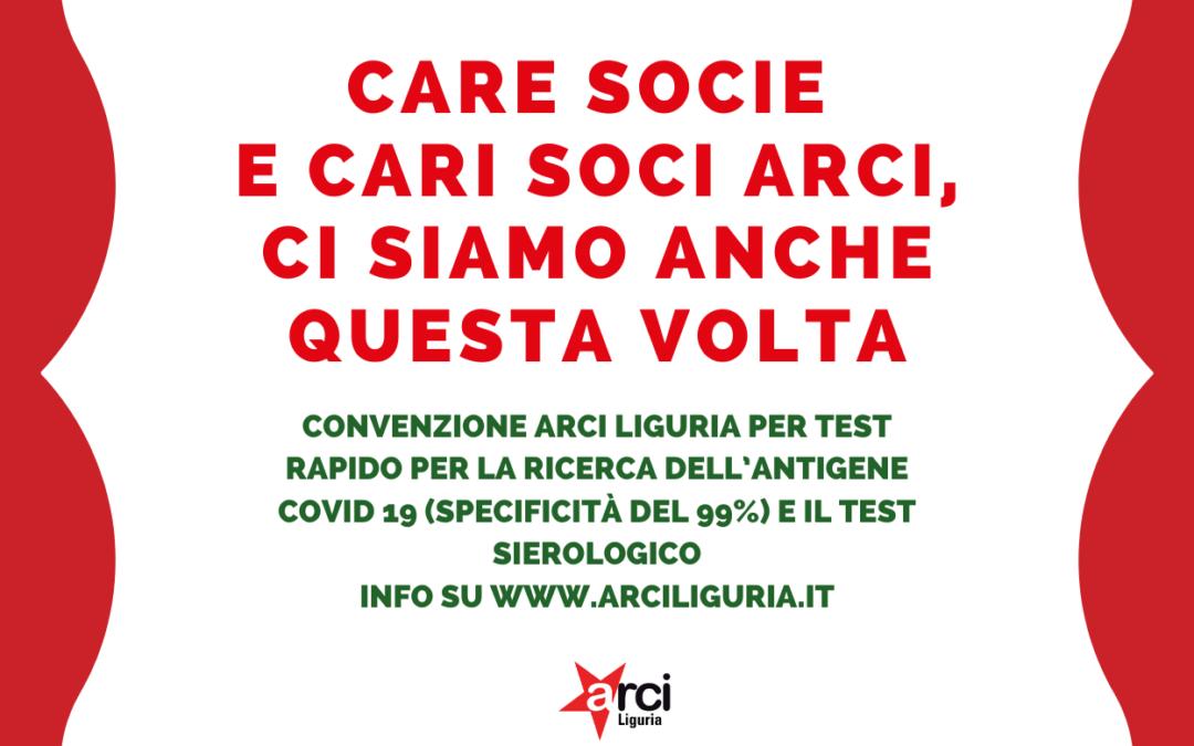 Nuova convenzione di Arci Liguria visto il protrarsi dell'emergenza sanitaria