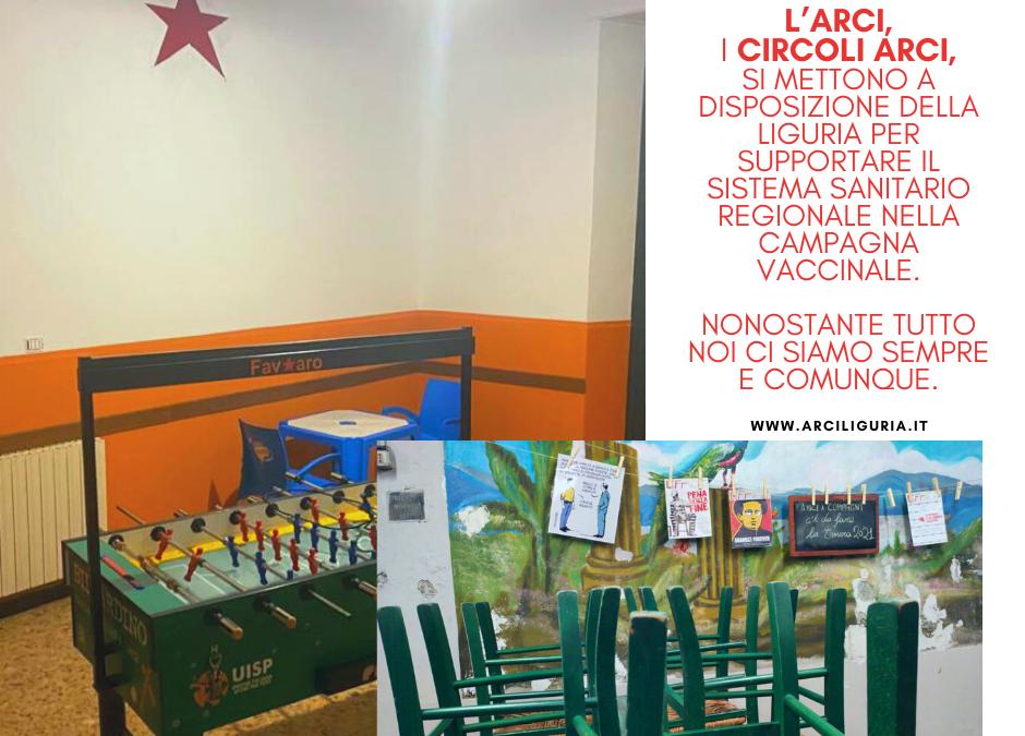 I circoli Arci della Liguria per la campagna vaccinale regionale. Lettera al Presidente della Regione, Giovanni Toti.