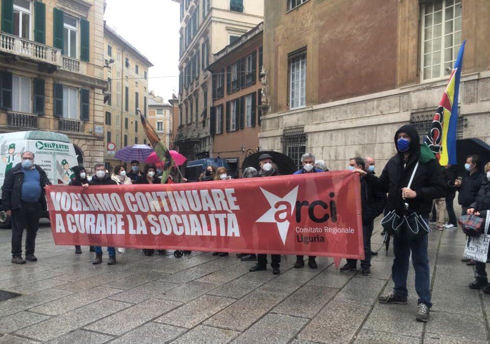 Vogliamo continuare a curare la socialità. Presidi dell'Arci sotto tutte le Prefetture della Liguria
